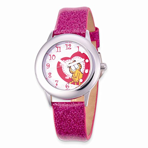 Garfield Glitz Pink Band Tween Watch