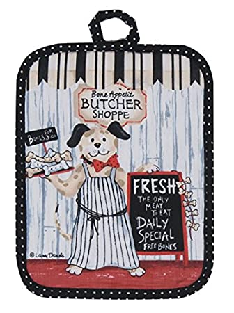 Dog Flour Sack Towel Kay Dee Butcher Shoppe Pattern