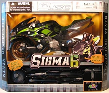 GI Joe Sigma 6 Ninja Hovercycle (black/green) by G. I. Joe ...