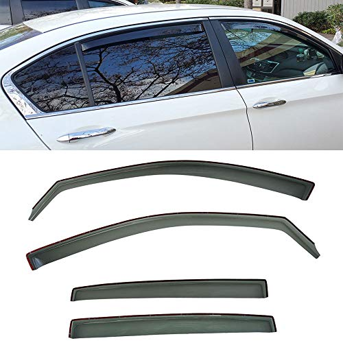 VXMOTOR for 2013-2017 Honda Accord Sedan 4 Door 4Dr Window Visors Rain Guard Deflector in-Channel V37