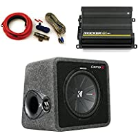 "Kicker CompR 12"" ported enclosure + 500 Watt Kicker DX Amp bundle"