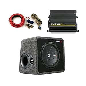 "Amazon.com: Kicker CompR 12"" ported enclosure + 500 Watt"