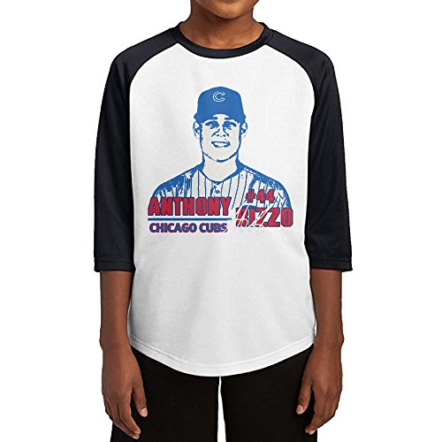 Hotboy19 Youth Boys Chicago #44 Baseball Player Raglan Baseball T Shirt Black Size - Cubs T-shirt Customized Chicago