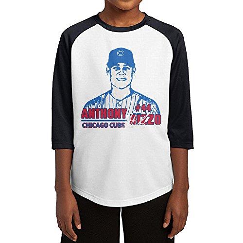 Hotboy19 Youth Boys Chicago #44 Baseball Player Raglan Baseball T Shirt Black Size - Chicago T-shirt Customized Cubs