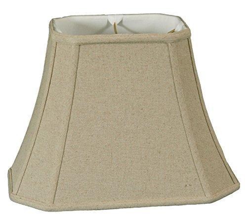 Rectangle Traditional Cream - Royal Designs Rectangle Cut Corner Lamp Shade, Linen Cream, (6 x 8) x (9 x 14) x 10.5