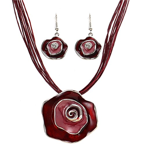 Astral Fashion Jewelry Set Colorful Enamel Flower Jewelry Sets For Party Rope Bridal Jewelry Sets Summer Jewelry F1044A