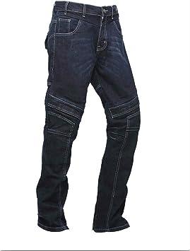 Pantalones vaqueros de motociclista para hombre con forro de protección reforzada que incluye armaduras