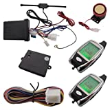 Universal 2 Way Motorcycle Alarm System With Microwave Sensor & LED Status Indicator & LCD Remote Transmitters