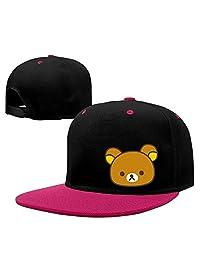 LINNA Relax Cute Bear Camping Sanpback Cap Hat Pink