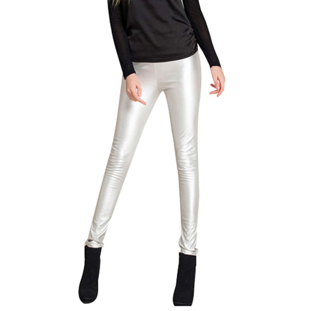 Hibote Autunno Inverno Donna Legging Skinny PU Leather Leggings Matita Slim Faux Leather Pants Pantaloni in Pile PU B181107WL2-X