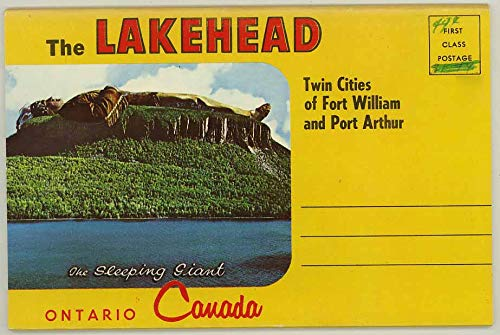 The Lakehead - Sleeping Giant Ontario Canada - Fort William & Port Arthur - 1967 Souvenir Postcard -