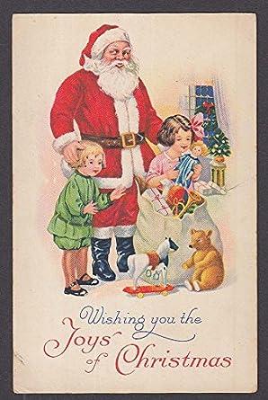 The Joys Of Christmas.Wishing You The Joys Of Christmas Santa Claus Children