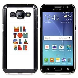 FOR Samsung Galaxy J2 Queen Pattern - Letters Art Modern Colorful I L O N R S - Doble capa de armadura de la cubierta del caso del protector -