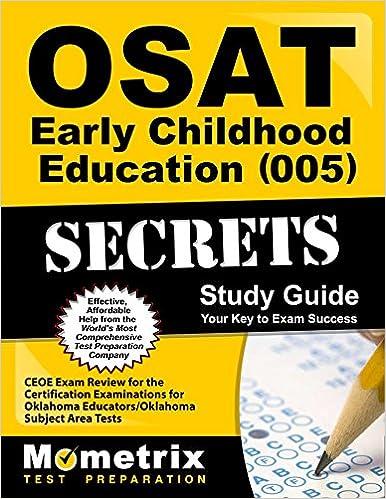 Osat Early Childhood Education 005 Secrets Study Guide Ceoe Exam