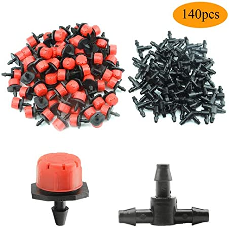 50PCS Drip Irrigation Barbed Coupling Connectors for 4\//7mm Hose Patios Greenhouses Gardens Lawns Backyard Orchard Potted Plants