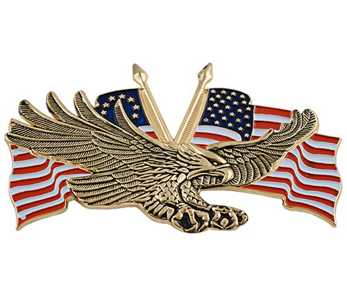 Add On Accessories 91-6207G Gold Flying Eagle with USA (Eagle Emblem)