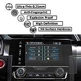 Honda 2pcs Tempered Glass Screen Protector 2016 2017 2018 Civic EX EX-T EX-L Touring 7'' GPS Display