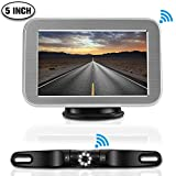 "Wireless Backup Camera Kit Only for Cars, LED Super Night Vision IP68 Waterproof License Plate Reverse Back Up Car Camera with 5""TFT LCD Rearview Monitor for Cars, SUV, Pickups Review"