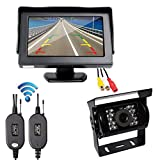 Wireless Backup Camera and Monitor Kit, 4.3 inch Color TFT LCD Mirror Monitor with HD CCD Car Rear View Wireless Backup Camera Kit