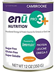 ENU Pro 3+ Flavorless Nutrition Powder for Enteral & Oral Use in Meal, Super Soluble Caloric Energy & Protein Powder Supplement w/L-Leucine & Essential Nutrients, Sucrose & Gluten Free
