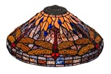 17 Inch W Tiffany Hanginghead Dragonfly Cone Shade Theme TIFFANY ART GLASS INSECTS
