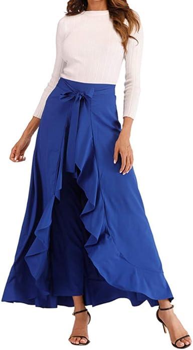 Pantalones para Mujer Faldas Cintura Alta Anchos Invierno ...