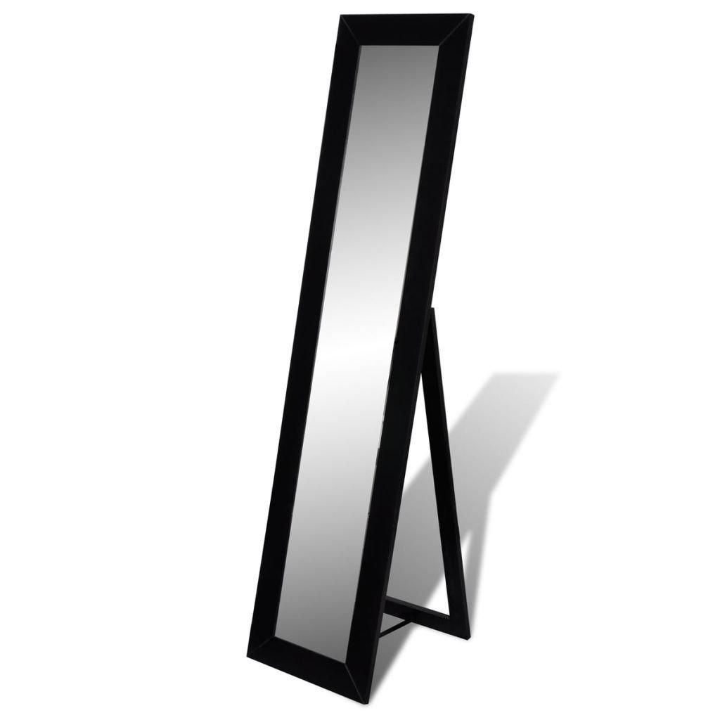 vidaXL Specchio autoportante a figura intera nero