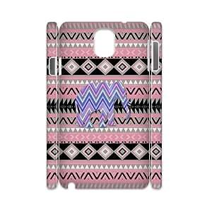 J-LV-F Diy case Elephant Aztec Tribal customized Hard Plastic case For samsung galaxy note 3 N9000