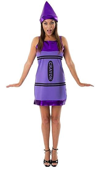 b78cc5d21 Women's Purple Crayon Fancy Dress Fancy Dress Costume Small: Amazon.co.uk:  Toys & Games