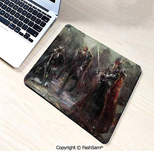 Personalized 3D Mouse Pad Three Soldiers in Forest Cold Snowy Winter Fighting Defending Demonic Battlefield for Laptop Desktop(W7.8xL9.45)]()