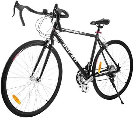 VEVOR Road Bike Light Aluminum Alloy/Carbon Steel Aluminum Commuter Bike Shimano 21 Speed 700c Racing Bicycle 21 inch/ 54cm