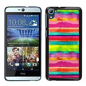 LECELL--Funda protectora / Cubierta / Piel For HTC Desire D826 -- Arte Rayas Niños alegre feliz --