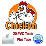 Ace Horizon 20 Pack Chicken Waterer PVC Tee