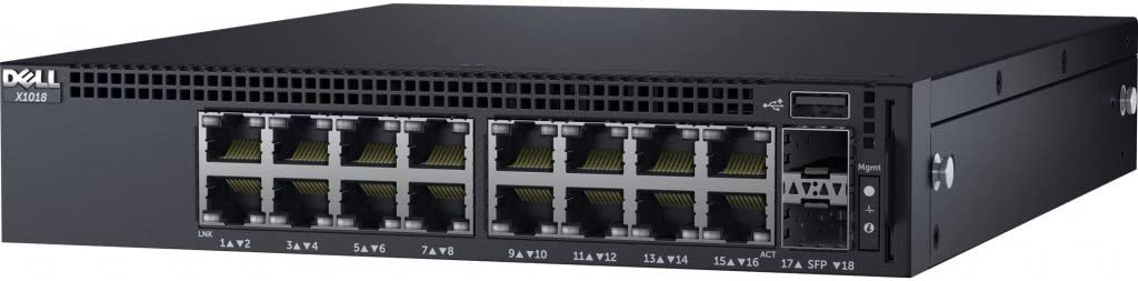 Dell Networking X1018P - Switch - 16 Ports - Managed - Rack-mountable, Black (463-5910)