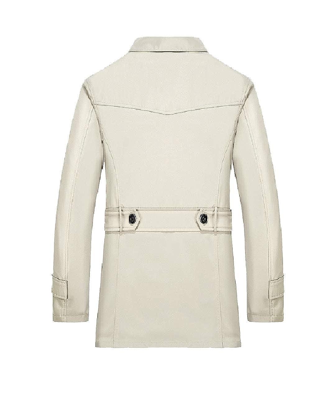 Zimaes-Men Trench Fleece Lined Winter Plus Size Parka Coats Jackets