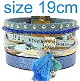 Olive Tayl Summer Leather Bracelet 5 Color Women Charm Bracelets Bohemian Bracelets & Bangles Wholesale Jewelry for Women