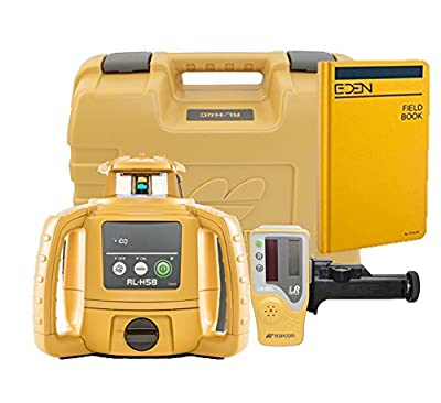 Topcon RL-H5B Self Leveling Horizontal Rotary Laser with Bonus EDEN Field Book| IP66 Rating Drop, Dust, Water Resistant| 400m Construction Laser| Includes LS-80L Receiver, Detector Holder, Hard Case