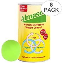 Almased Meal Replacement Shake - Soy Protein Powder for Weight Loss - Shake for Weight Management - No Sugar Added (6 pack + Free Stress Ball)