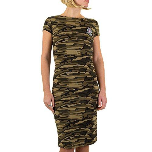 iTaL-dESiGn - Vestido - Túnica - para mujer caqui