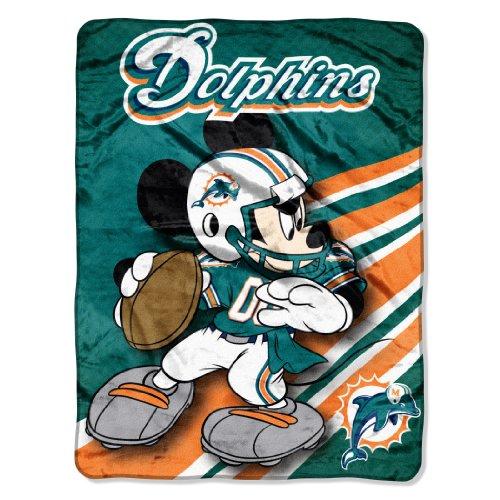 Northwest Miami Dolphins Soft Blanket - 1