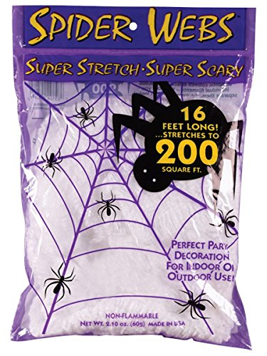 [Super Stretch Spider Web - 16 Foot by Fun World] (Halloween Decorations)