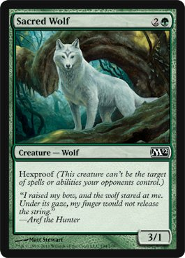 Magic: the Gathering - Sacred Wolf - Magic 2012