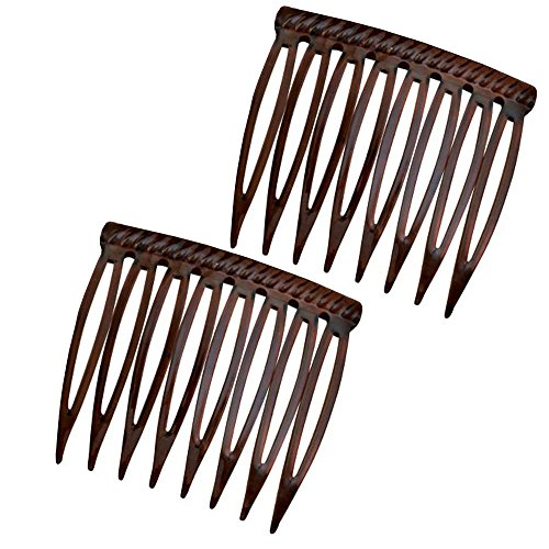 The Original Grip Tuth Hair Combs Set Of 2 Tortoise Shell Color 1 12 Wide