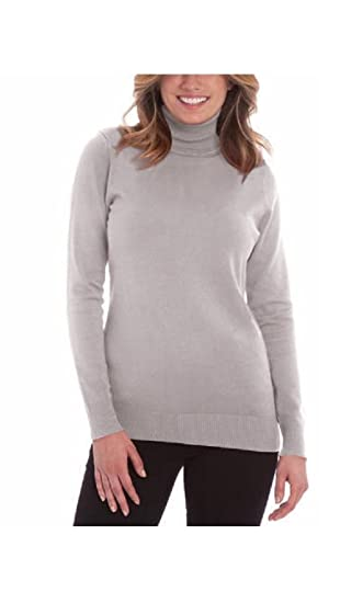 Joseph A Womens Solid Long Sleeve Turtleneck Sweater At Amazon