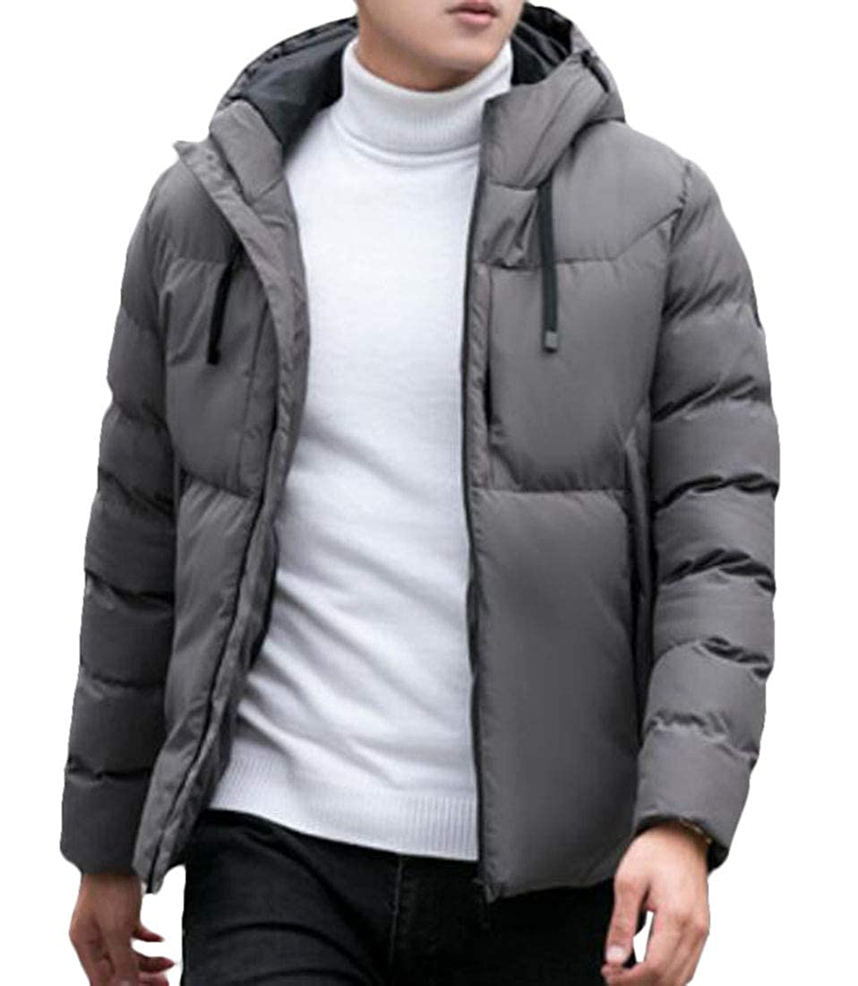 XiaoTianXinMen XTX Mens Warm Thick Full-Zip Casual Winter Outwear Hoodie Padded Jacket