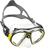 Cressi Adult Air Professional Mask - Crystal Clear/Black/Yellow