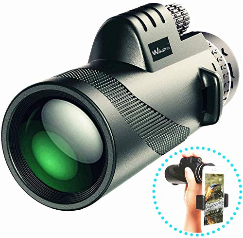 Abilly SB-112 Monocular Telescope High Power 40×60 Compact Portable Monoculars Scope with Phone Clip&Tripod for Smartphone Bird Watching Hunting Hiking Fishing Outdoors Sporting and Concert, Black from Abilly