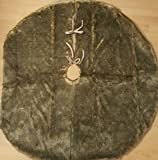 """Faux Fur Holiday Christmas Tree Skirt Large Round 48"""""""