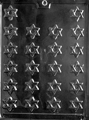 Star Of David Candy Mold (Cybrtrayd R005 Bite Size Star of David Chocolate Candy Mold with Exclusive Cybrtrayd Copyrighted Chocolate Molding Instructions plus Optional Candy Packaging Bundles)