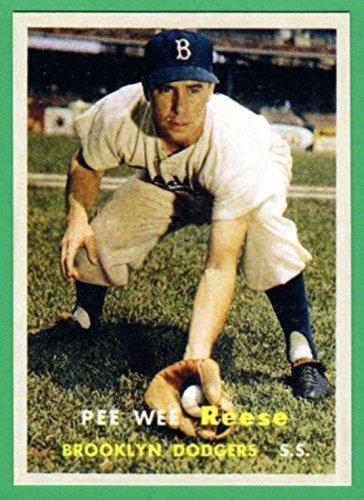 Pee Wee Reese 1957 Topps Baseball Reprint Card (Dodgers) ()